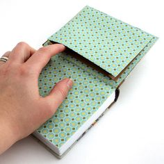 Secret camoflauge pocket endpage | bookbinding by Ruth Bleakley