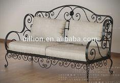 Imagen relacionada – metal of life Iron Furniture, Steel Furniture, Home Furniture, Furniture Design, Wrought Iron Bench, Wrought Iron Decor, Steel Sofa, Steel Bed, Upholstered Bench