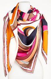 Emilio Pucci 'Circle Stripes Timeless' Silk Scarf