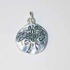 Silver Tree Charm by CloudNineSupplyShop on Etsy, $3.00