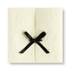 Versailles Wedding Invitations by TheAmericanWedding.com with pink ribbon