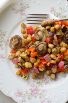 Garlic Rosemary Roasted Vegetables and Chickpeas from page 164 in my book #SlimDownNow #pulses #plantbased #glutenfree #healthyrecipes #weightloss #cleaneating #chickpeas #healthyeating #lifestyle #cynthiasass #nutrition #nutritionist