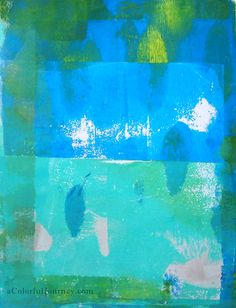 Mixing Colors on the Gelli Plate with Carolyn Dube