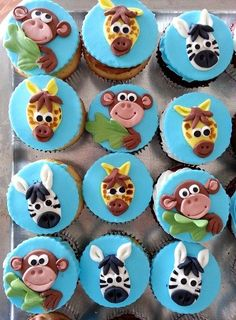 Jungle cupcake toppers (Top Cupcake Nederlands)