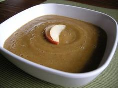 Apple Acorn Squash Soup---recipe to follow.