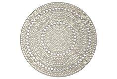Mirage Place Mat, Silver/Crystal on OneKingsLane.com