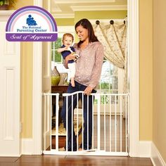 north states industries, wide portico supergate, wide pressure gate, metal baby safety gate