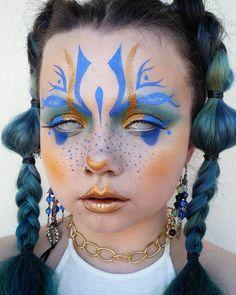 Eye Makeup Art, Sfx Makeup, Cosplay Makeup, Doll Makeup, Costume Makeup, Crazy Makeup, Cute Makeup, Pretty Makeup, Alternative Makeup
