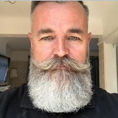 for men who love long bearded men Moustache, Beard No Mustache, Beard Styles For Men, Hair And Beard Styles, Hair Styles, Bald With Beard, Beard Haircut, Grey Beards, Beard Model