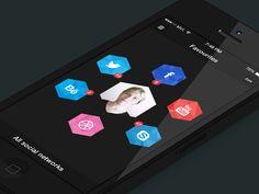 Dribbble - Social Media Management App by Mark van Leeuwen