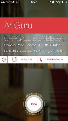 Cover dell'app realizzata in collaborazione con Art Guru.
