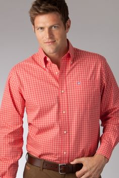 IZOD Men's Long Sleeve Check Button Down Shirt, « Impulse Clothes ...