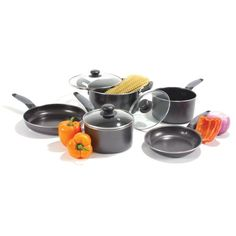 Heuck 29042 8 Piece 3 Ply Aluminum Soft Handle Cookware Set *** Click on the image for additional details.