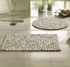 DIY Wohndeko-Idee mit Steinen-Fußmatte selber machen