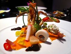 Alinea, Chicago - Soft shell crab, carrot, five spice, duck