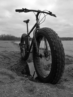 Fat bike, great for trails! Remember to clean off equipment before entering and upon leaving trails to help prevent the spread of terrestrial invasive species. www.playcleango.org
