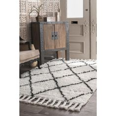 Rugs USA Natural Marrakesh Shag Rug: The plush hand knotted Rugs In Living Room, Living Room Decor, Rugs Usa, Area Rug Runners, Buy Rugs, Geometric Rug, Round Rugs, Contemporary Rugs, Rug Cleaning