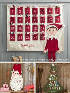 {Favorite Advent Calendars} Love these ... *Can't wait to bring out our elf!!
