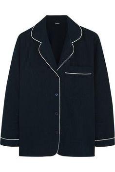 Seersucker cotton pajama top #nightwear #women #covetme #bodas
