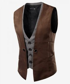 Men Vest 2018 Brand Fashion Fake Two Pieces Waistcoat Classic Slim Groom Suit Vest Business Social Sleeveless Jacket Asian Size Rugged Style, Style Casual, Men Casual, Casual Suit, Fashion Brand, Mens Fashion, Style Fashion, Cheap Fashion, Fashion Online