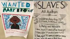"Middle schools in New Jersey are under fire after parents questioned two schools' curriculums when they saw that fifth grade students were making ""wanted"" posters for runaway slaves. Just a few weeks later, however, another project performed by fifth grad"
