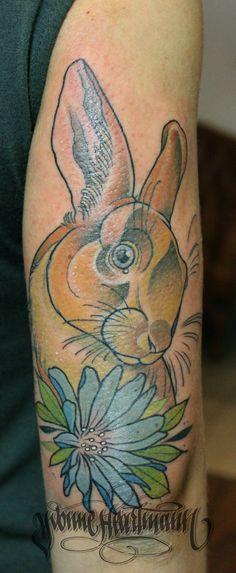 Bunny, rabbit tattoo i made few weeks ago :)