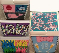 Painted cooler! just the coral part