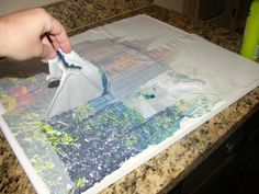 Photo to canvas transfer tutorial--can use inkjet printed picture.