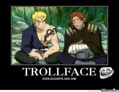 Gildarts troll face - Fairy Tail