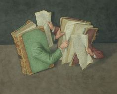 """actegratuit: """" Wolstenholme Jonathan Jonathan Wolstenholme is a British artist and illustrator best known for his amazingly detailed works deriving from a love of old books. Books on Books is a series. Free Writing Contests, Surrealism Painting, Sculpture, I Love Books, Love Art, New Art, Graphic Art, Whimsical, Blog"""