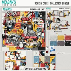 Theme restaurants are always a fun place to visit. Good food and fun times will certainly follow. This kit can be used to document a fun evening out, or even scrapping your child's band concert .