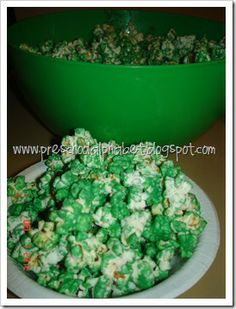Grinch popcorn while watching grinch movie