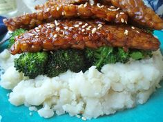 Wasabi Mashed Potatoes w/Sweet Glazed Tempeh #vegan