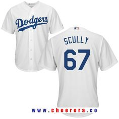 Men s Los Angeles Dodgers Sportscaster Vin Scully Retired White Home  Stitched MLB Majestic Cool Base Jersey 756c453b6