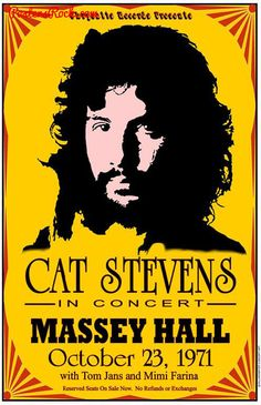 Cat Stevens, Massey Hall, Toronto 1971