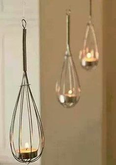 Cook with mood lighting. Create creative kitchen lighting with candles, a simple and adorably cute DIY project for the kitchen.