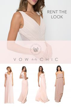 Being a bridesmaid can be an expensive honor - but not when you rent a designer… Designer Bridesmaid Dresses, Wedding Bridesmaid Dresses, Wedding Attire, Designer Dresses, Wedding 2017, Our Wedding, Dream Wedding, Vow To Be Chic, Dress Rental