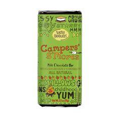 Seattle Chocolates milk chocolate Camper S'Mores truffle bar