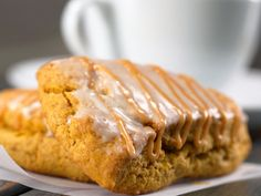 Skip the drive-thru line and enjoy your favorite seasonal Starbucks baked good right in the comfort of your own kitchen. These copycat Starbucks Pumpkin Scones are the perfect companion to a hot cup of coffee and a brisk fall morning. Milano Cookie Recipe, Cookie Recipes, Dessert Recipes, Scone Recipes, Potato Recipes, Dessert Ideas, Breakfast Recipes, Pumpkin Recipes, Fall Recipes