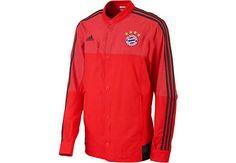 adidas Bayern Munich Anthem Jacket - Red and Dark Grey