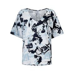 Kin by John Lewis Paint Texture T-Shirt Online at johnlewis.com I know you aren't keen on print but my job is to push you gently out of your comfort zone. This would go with jeans, black trousers or white jeans ( or even leather trousers!)