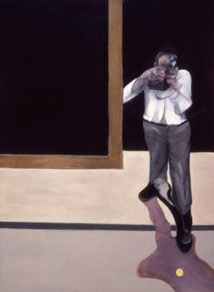 'Triptych (right section)' by Francis Bacon (1974) #contemporary #art  http://www.criticarte.com/Page/ensayos/text/FrancisBacon.html  Francis Bacon.  De la metamorfosis a la disgregación    Dr. Adolfo Vásquez Rocca
