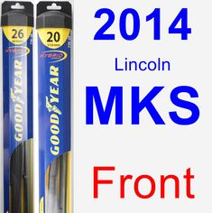 Front Wiper Blade Pack for 2014 Lincoln MKS - Hybrid