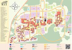 Rochester Institute of Technology Map Design by Lisa Hube, via Behance