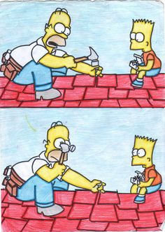 Homer and Bart.