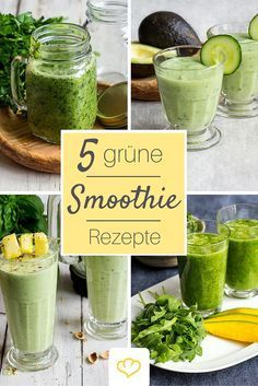 Grüne Smoothies: hol dir den Energiekick ins Glas Für den Energiekick: grüne… - Lo Que Necesitas Saber Para Una Vida Saludable Best Smoothie, Smoothie Vert, Smoothie Detox, Smoothie Drinks, Detox Drinks, Smoothie Recipes, Smoothie Mixer, Juice Recipes, Apple Smoothies
