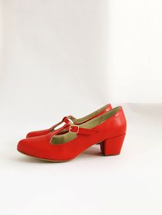 cf1f80953aa8 Marianne Faux leather T-bar heels (Handmade to order)