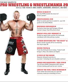 It's that time of year again! M profiles the biggest stars of the WWE, looks at Brock Lesnar's comeback and gives you everything you need to know leading up to WrestleMania 29.