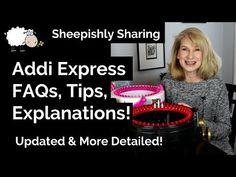 Addi Express FAQs, Tips, Explanations! Addi Knitting Machine, Circular Knitting Machine, Loom Knitting, Addi Express, Money Shop, Finger Crochet, Youtube, Crochet Patterns, Projects