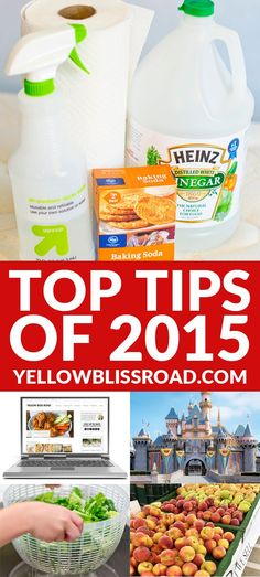 Top 2015 Tips from Yellow Bliss Road Food Hacks, Food Tips, Helpful Hints, Handy Tips, Household Cleaners, Things To Know, Organization Hacks, Good To Know, Cleaning Hacks